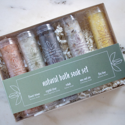 Natural Bath Soak Set gift box