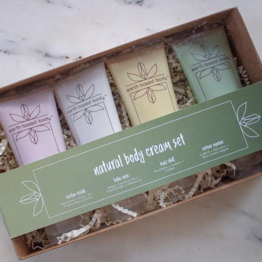 Natural Body Cream gift set in box